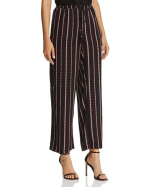 Beltaine Striped Wide-Leg Pants