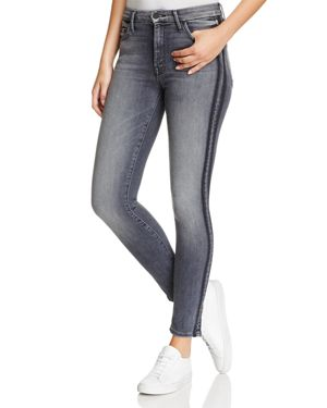 Mother High-Rise Looker Jeans in Miss Moody Two Shoes Racer