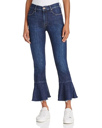 MOTHER - The Cha Cha Cropped & Flared Jeans in Clean Sweep