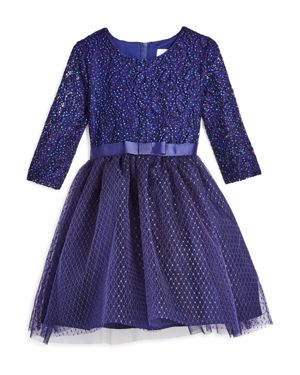 Us Angels Girls' Lace & Tulle Dress, Little Kid - 100% Exclusive
