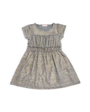 Design History Girls' Metallic Shirt Dress - Little Kid