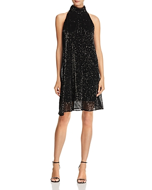 Laundry by Shelli Segal High-Neck Sequin Dress
