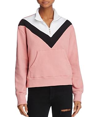 Wildfox Color Block Soto Warm-Up Sweatshirt