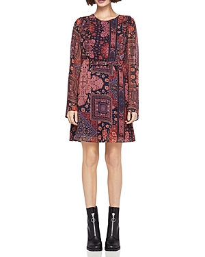 BCBGeneration Printed Ruffle Dress
