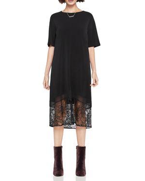BCBGeneration Lace-Hem Midi Dress