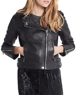 bae547608189f BCBGENERATION Essential Leather Moto Jacket