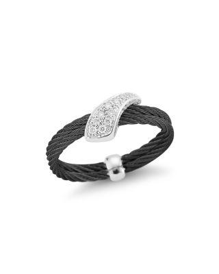 Alor NOIR WOVEN DIAMOND RING