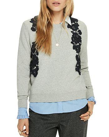 Scotch & Soda - Lace-Appliqué Sweatshirt