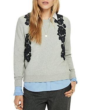 Scotch & Soda Lace-Applique Sweatshirt