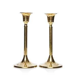 Food52 Vintage-Inspired Brass Candlesticks Short, Set of 2
