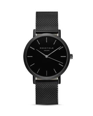 Mercer Mesh Strap Watch, 38Mm, Black