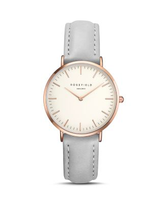 TRIBECA LEATHER STRAP WATCH, 33MM