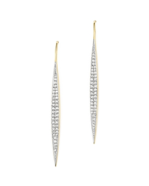 Adina Reyter 14K Yellow Gold Marquise Drop Pave Diamond Earrings