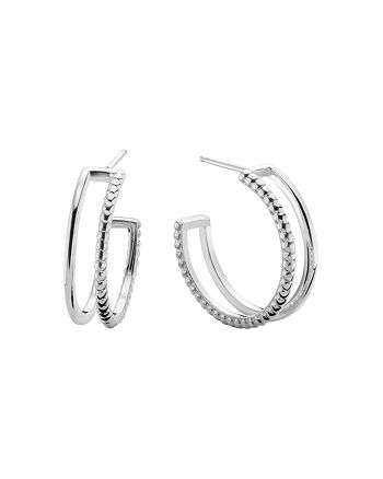 Shinola - Sterling Silver Coin Edge Hoop Earrings