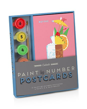 Knock Knock - Classic Cocktails Edition Paint by Number Postcards Kit