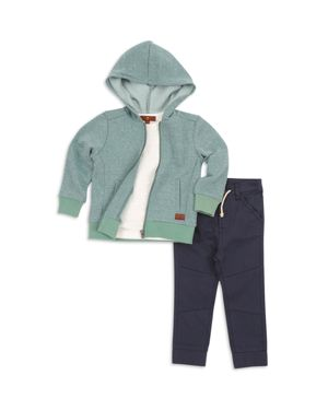 7 For All Mankind Boys' Hoodie, Tee & Twill Joggers Set - Little Kid