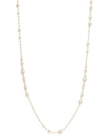 "Bloomingdale's - 14K Yellow Gold Cultured Freshwater Pearl Wrapped Chain Necklace, 36"" - 100% Exclusive"