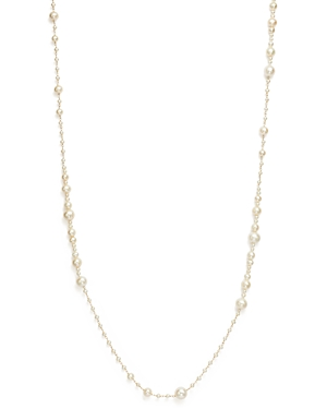 Bloomingdale's 14K Yellow Gold Cultured Freshwater Pearl Wrapped Chain Necklace, 36 - 100% Exclusive