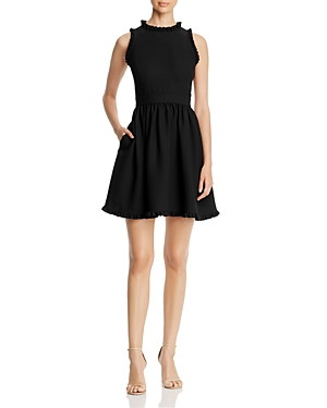 kate spade new york Ruffle Fit-and-Flare Dress