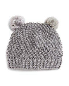 Surell Girls' Double Pom Hat - Bloomingdale's_0