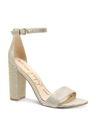 Sam Edelman Susie Block Heel Ankle Strap Suede Sandals