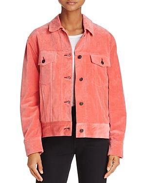 rag & bone/Jean Oversized Trucker Velvet Jacket