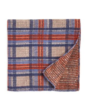 The Men's Store at Bloomingdale's Plaid Wool Pocket Square - 100% Exclusive