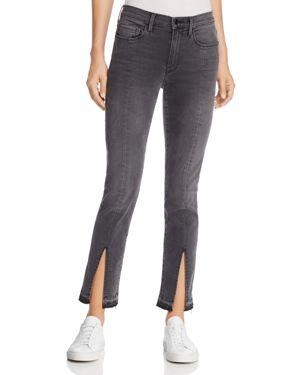Frame Le Nouveau Split-Hem Straight Jeans in Woodland