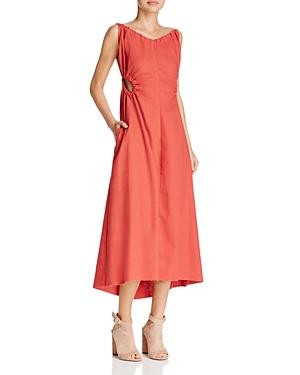 Style Mafia Tremenda Frayed-Hem Cutout Midi Dress