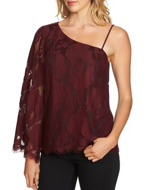 1.state Lace One-Shoulder Top