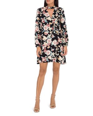 B Collection by Bobeau Mykla Floral Print Choker Dress