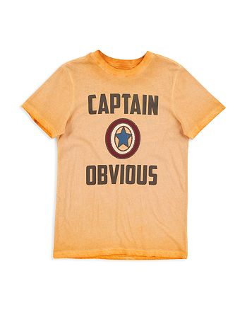 Butter - Boys' Mineral-Wash Captain Obvious Tee - Big Kid