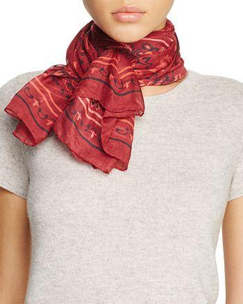 MCM - Bandana Print Wool Scarf