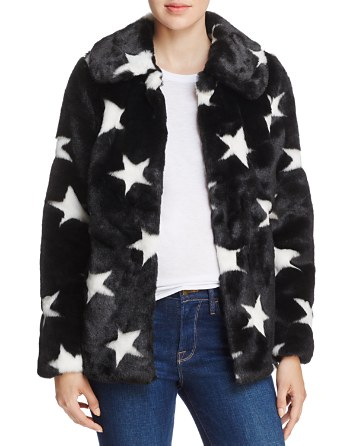 $AQUA Faux-Fur Star Coat - 100% Exclusive - Bloomingdale's