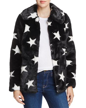 AQUA - Faux-Fur Star Coat - 100% Exclusive