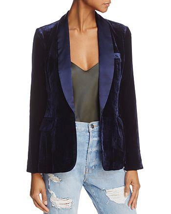 Joie - Mehira H Velvet Shawl-Collar Blazer