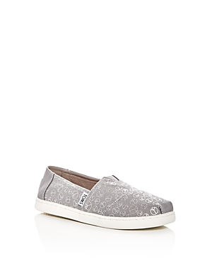 Toms Girls' Seasonal Classic Peace Sign Flats - Toddler, Little Kid, Big Kid