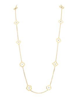 "Gumuchian - 18K Yellow Gold Diamond Small Multi Motif G Boutique Necklace, 34"""