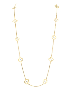 Gumuchian 18K Yellow Gold Diamond Small Multi Motif G Boutique Necklace, 34