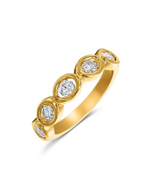 Gumuchian - 18K Yellow Gold Diamond Oasis 5 Stone Band