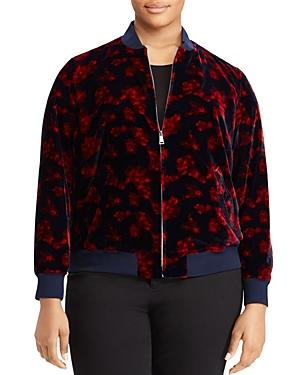 Lauren Ralph Lauren Plus Floral Print Bomber Jacket
