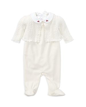 Ralph Lauren Childrenswear Girls' Embroidered-Reindeer Sweater, Overalls & Bodysuit Set - Baby