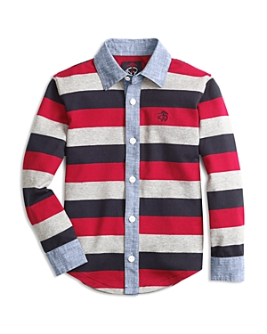 Brooks Brothers Boys' Rugby-Stripe Button Down - Big Kid
