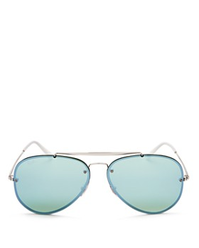 Ray-Ban - Unisex Blaze Mirrored Aviator Sunglasses, 61mm