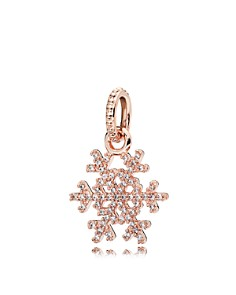 PANDORA Pendant - Sterling Silver & Cubic Zirconia Sparkling Snowflake Rose - Bloomingdale's_0