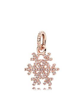 PANDORA - Pendant - Sterling Silver & Cubic Zirconia Sparkling Snowflake Rose