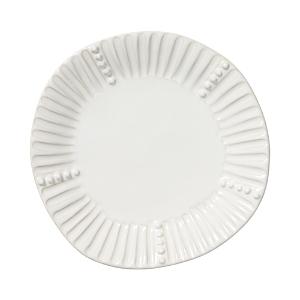 Vietri Incanto Stone White Stripe Salad Plate