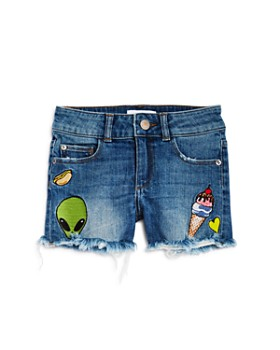 DL1961 - Girls' Denim Shorts with Patches - Big Kid