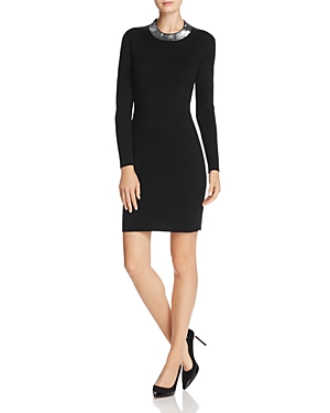 Michael Michael Kors Sequin-Collar Sweater Dress