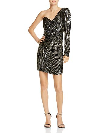 Parker - Molly One-Shoulder Sequined Mini Dress